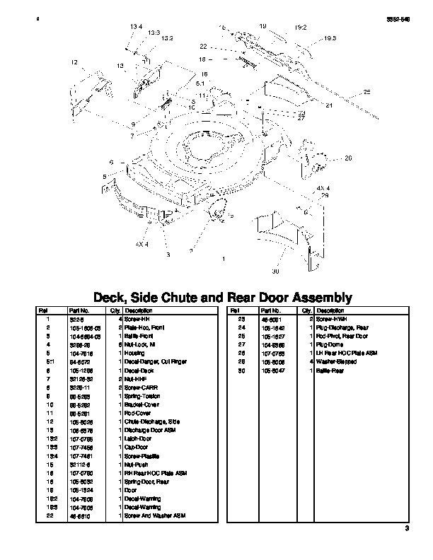 Toro 20003 22-Inch Recycler Lawn Mower Parts Catalog, 2005