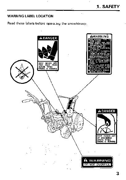 Honda HS522 Snow Blower Owners Manual