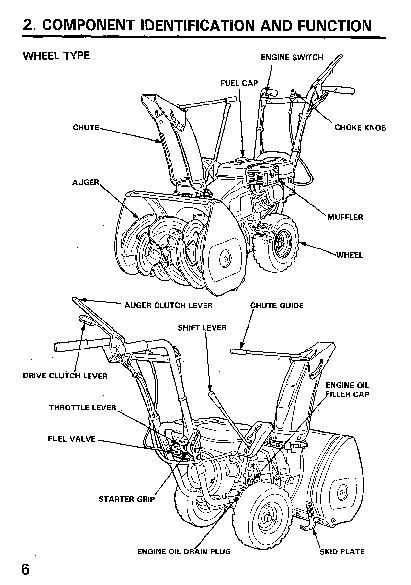 Honda HS522 Snow Blower Owners Manual
