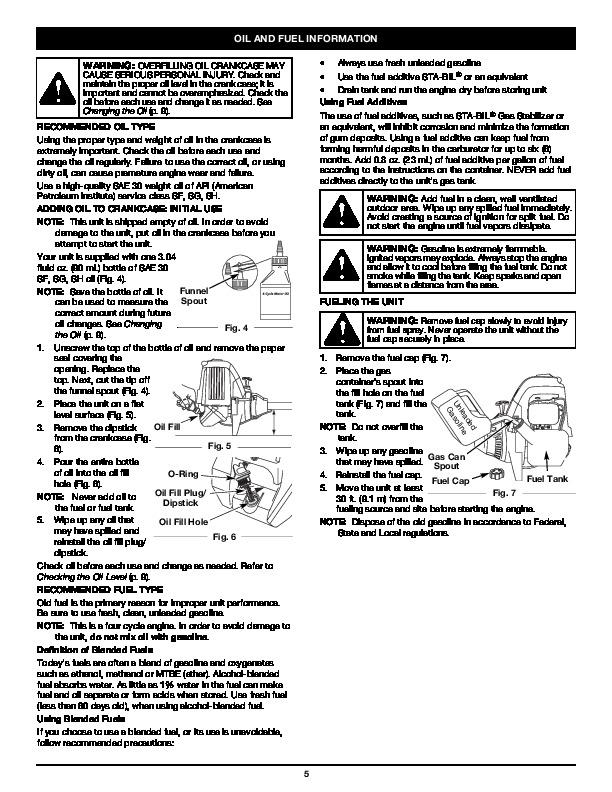 MTD Troy-Bilt TB26TB 4 Cycle Trimmer Lawn Mower Owners Manual