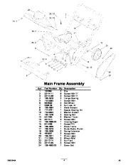 Toro Power Clear 38584 Snow Blower Parts Manual, 2011
