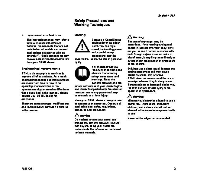 STIHL FCB KM Edger Owners Manual