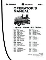 Simplicity Legacy 2000 2900 20 23 24.5 25 48 54 60 Series