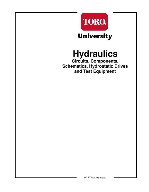Toro Hydraulics Circuits Components Schematics Hydrostatic