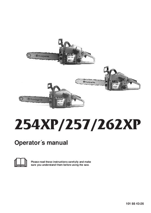 Husqvarna 254XP 257 262XP Chainsaw Owners Manual, 1998