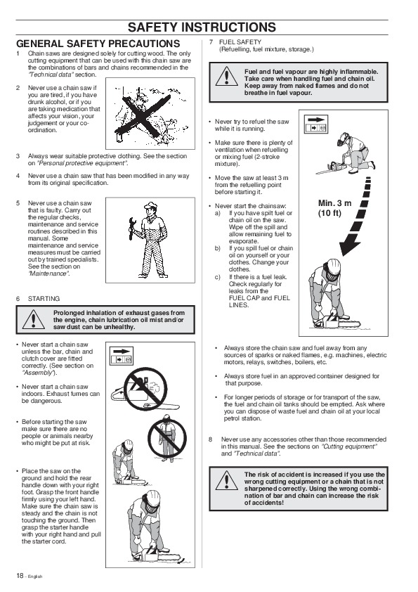 Husqvarna 254XP 257 262XP Chainsaw Owners Owners Manual