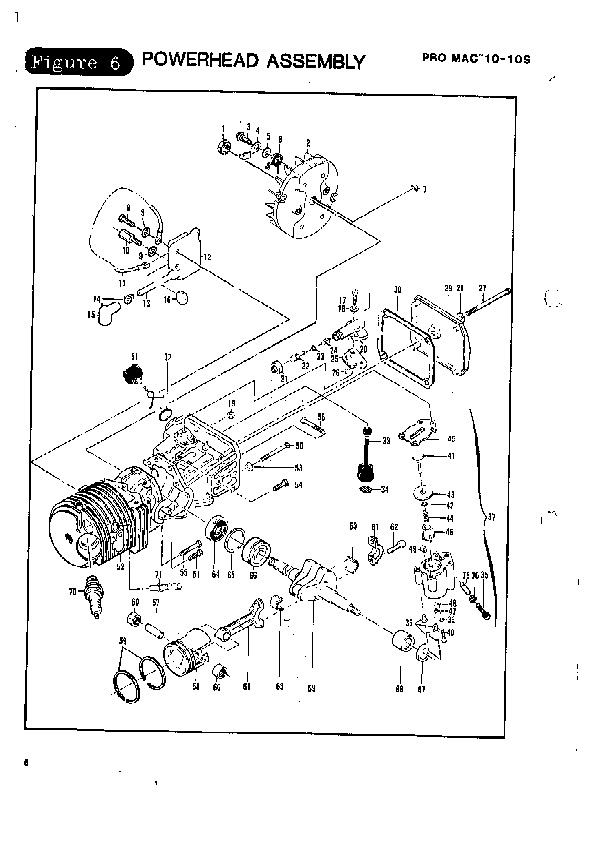 Mac 3200 Chainsaw Parts Manual