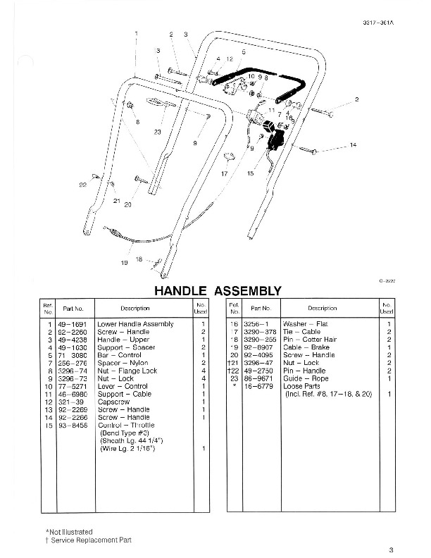 Toro 16400 16401 21-Inch Lawn Mower Parts Catalog, 1996