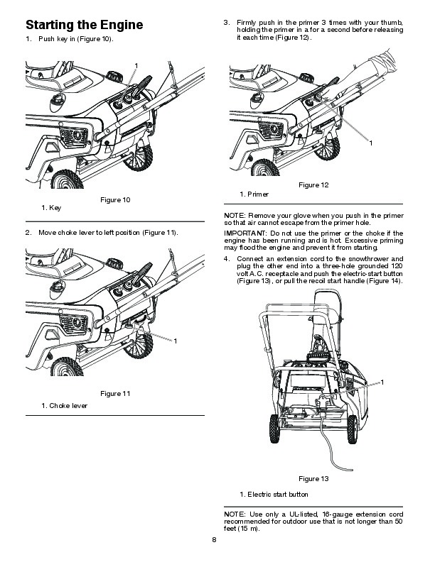 Poulan Pro PR621ES 436439 Snow Blower Owners Manual, 2010