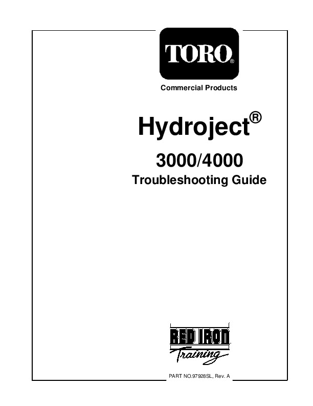 Toro Commercial Products Hydroject 3000 4000