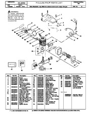 Poulan Pro 220 Chainsaw Parts List, 2000