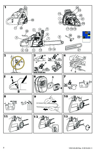 Husqvarna 235e 236e 240e TrioBrake Chainsaw Owners Manual