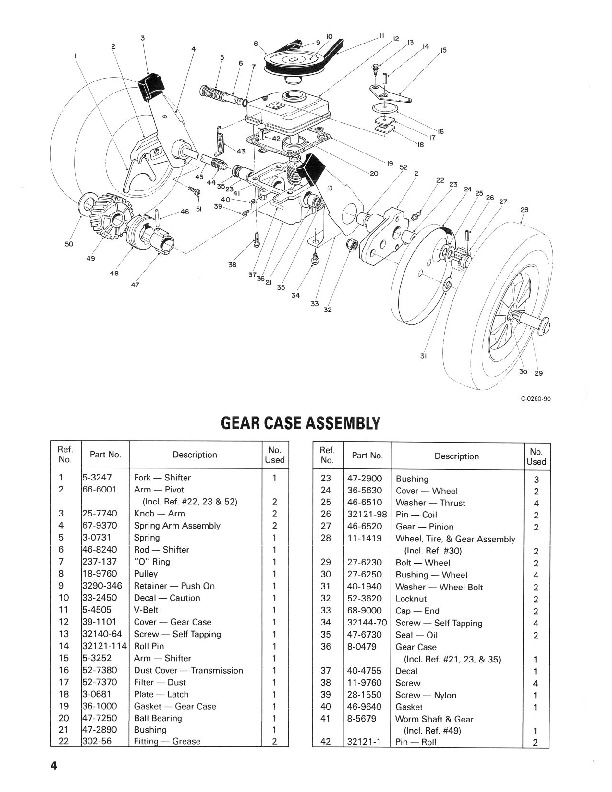 Toro 16775 16575 21-Inch Lawn Mower Parts Catalog, 1990