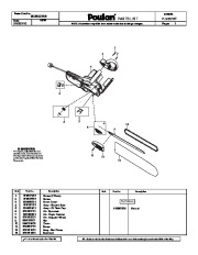 Poulan PLN3516F Chainsaw Parts List, 2010