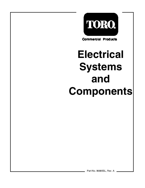 Toro Commercial Products Electrical Systems Components 96885SL
