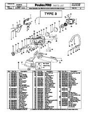 Poulan Pro 295 Chainsaw Parts List, 2008