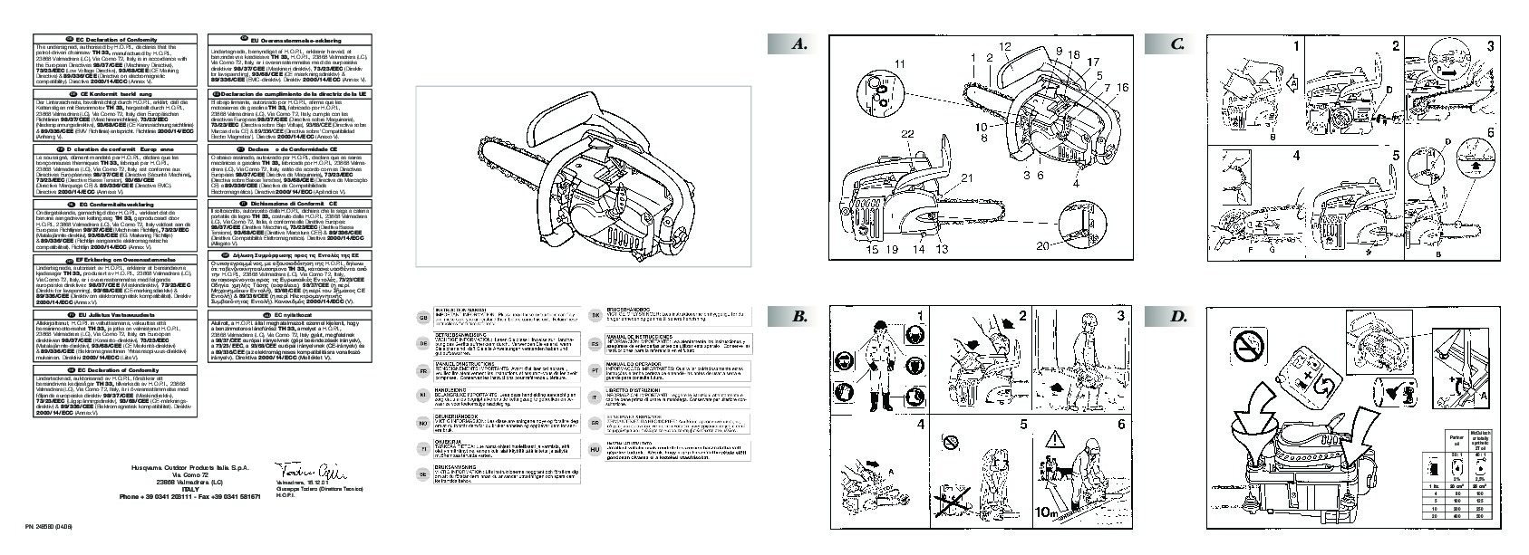 Mcculloch Electramac Em14e Chainsaw Manual