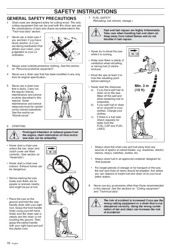 Husqvarna 42 242XP 246 Chainsaw Owners Owners Manual, 1999
