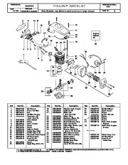 Poulan 1950 Chainsaw Parts List Manual, 2000