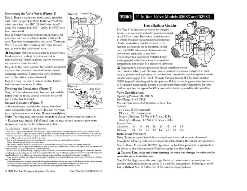Toro 53682 53683 Connecting Sprinkler Irrigation Owners Manual