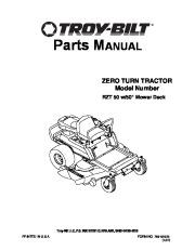 MTD Troy-Bilt Zero Turn Tractor RZT 50 W Inch Deck Lawn