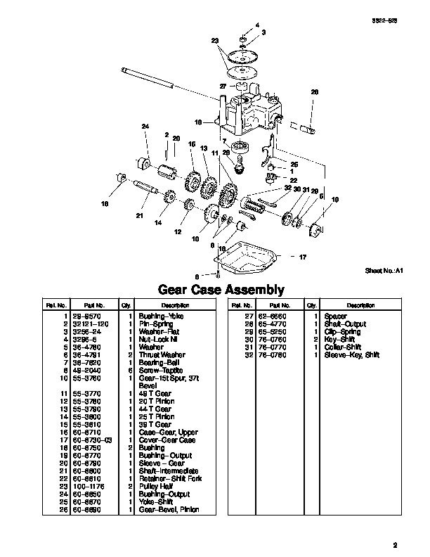 Toro 20044 21-Inch Super Recycler SR 21OS Lawn Mower Parts