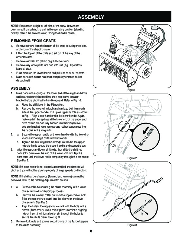 Craftsman 247.88845 45-Inch Snow Blower Owners Manual
