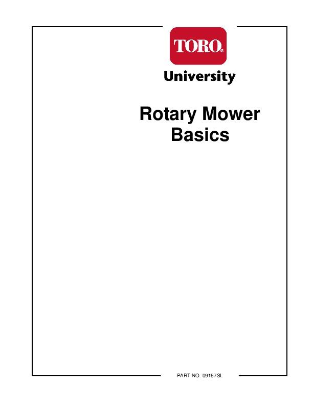 Toro Rotary Mower Basics 09167SL Rotary Lawn Mowers