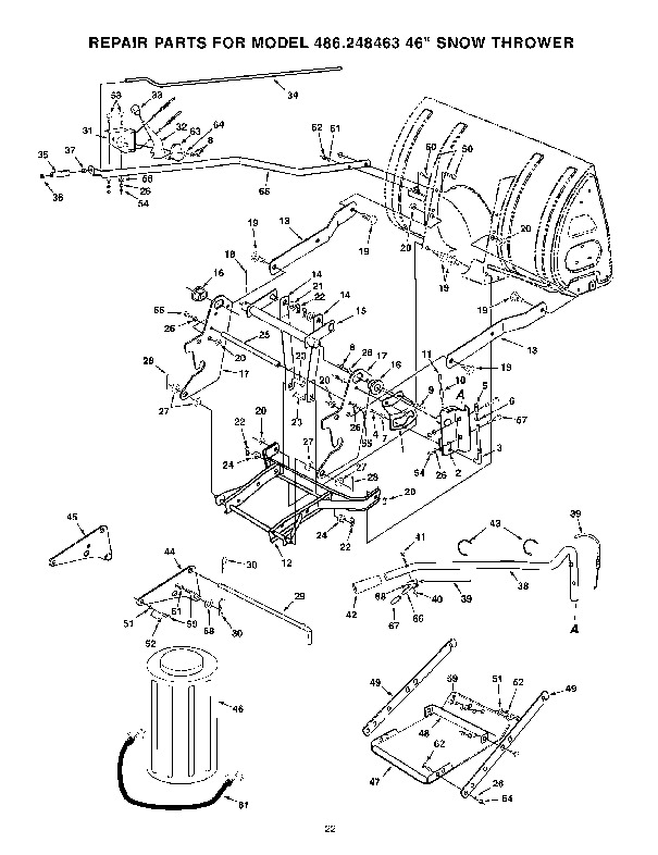 Craftsman 486.248463 46-Inch Snow Blower Owners Owners