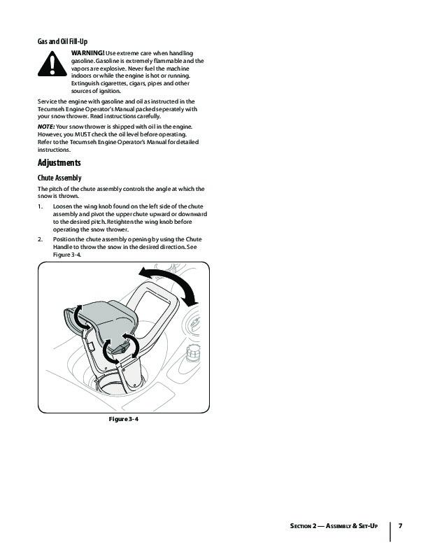 MTD Troy Bilt Squall 521 Snow Blower Owners Manual