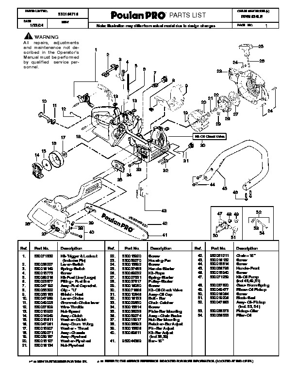 Poulan Pro Parts Diagram Pictures to Pin on Pinterest
