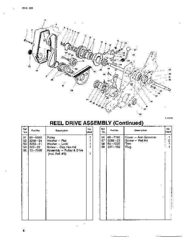 Toro 04050 Greensmaster 1000 Lawn Mower Parts Catalog, 1992