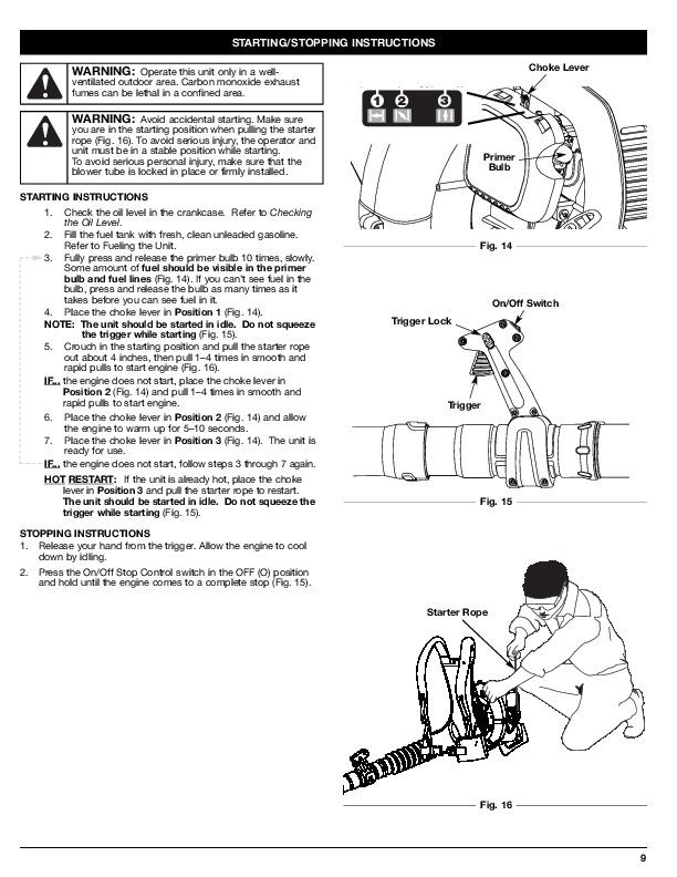 MTD Troy-Bilt TB4BP 4 Cycle Backpack Blower Owners Manual