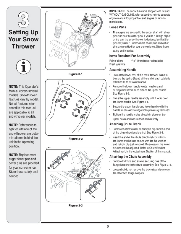 MTD Yard Man 769-04095 Snow Blower Owners Manual