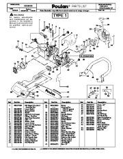 2008 Poulan 2150 LE 2150 Predator LE Chainsaw Parts List