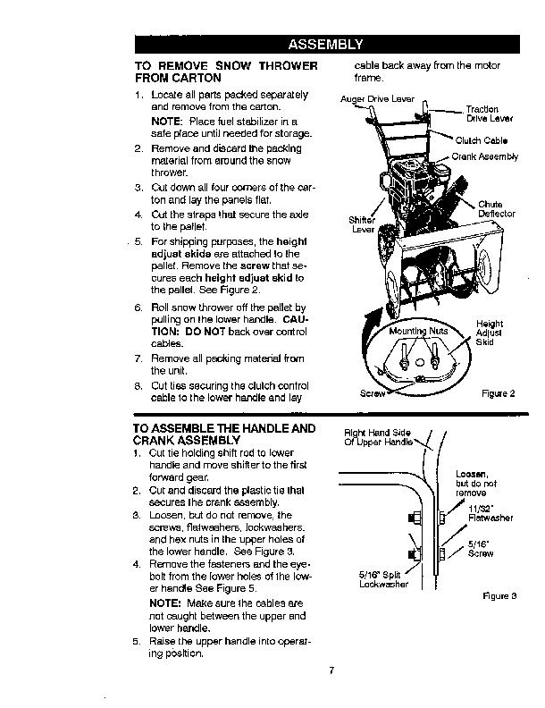 Craftsman 536.881951 29-Inch Snow Blower Owners Manual