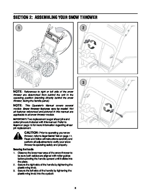 MTD 737-0168 C D Style Snow Blower Owners Manual