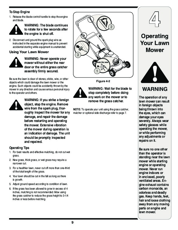 MTD Pro 400 Series 21 Inch Rotary Lawn Mower Owners Manual