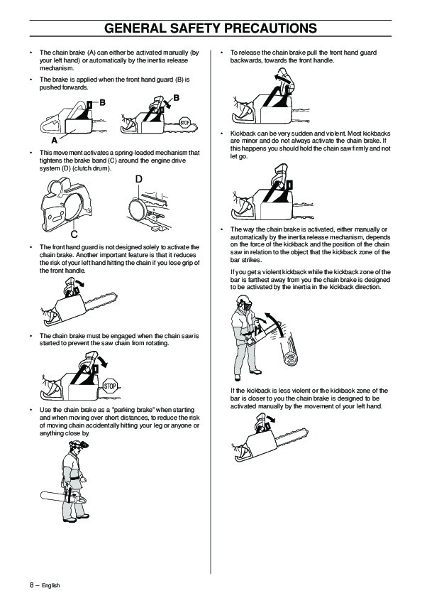 Husqvarna 385XP 390XP Chainsaw Owners Manual, 2003,2004