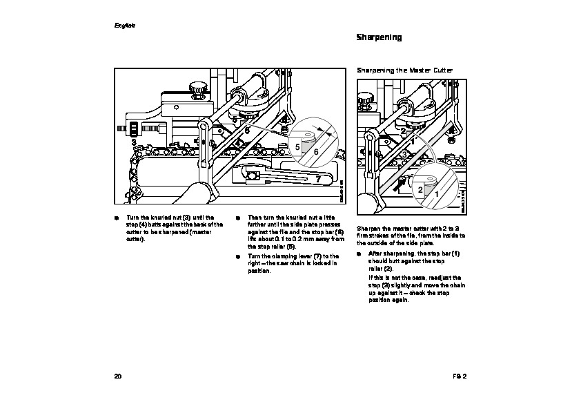 STIHL FG2 Chainsaw Filing Unit Owners Manual