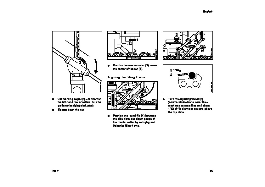 STIHL FG2 Chainsaw Filing Unit Owners Manual