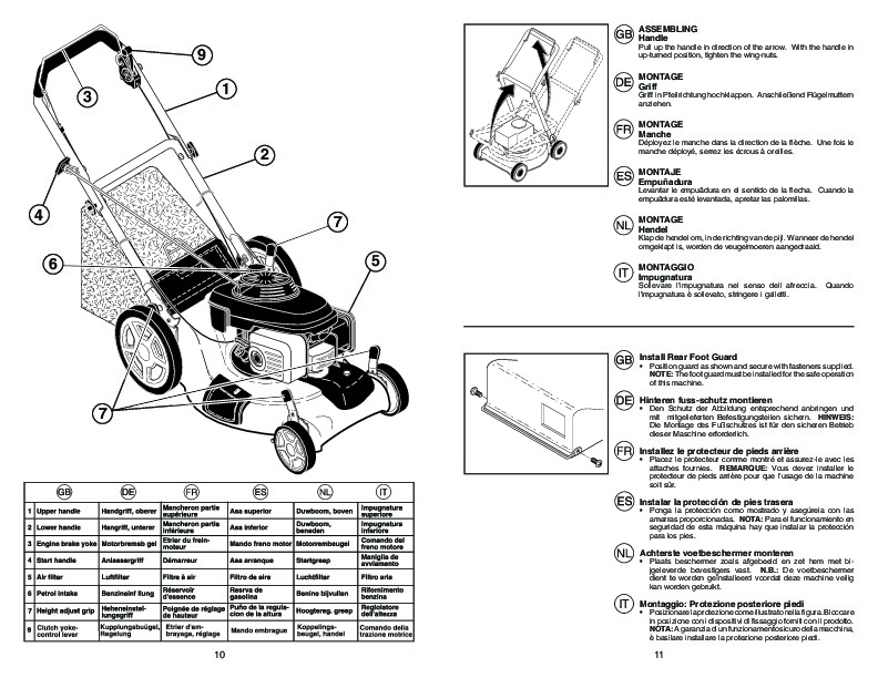 McCulloch EDITION 1 Lawn Mower Owners Manual, 2009