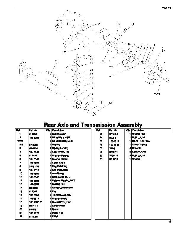 Toro 20031 22-Inch Recycler Lawn Mower Parts List, 2004