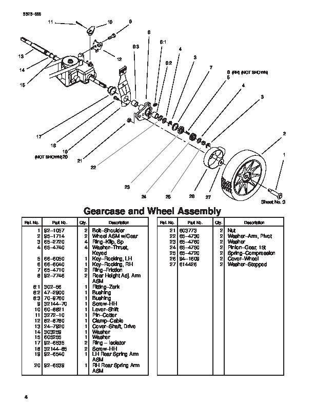 Toro Lawn-Boy 11003 53cm Power Lawn Mower Parts Catalog, 2001