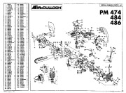 McCulloch Promac 474 484 486 Chainsaw Service Parts List