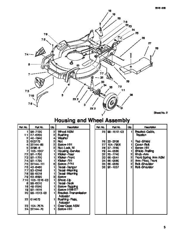 Toro 20039 21-Inch Super Recycler Lawn Mower Parts Catalog