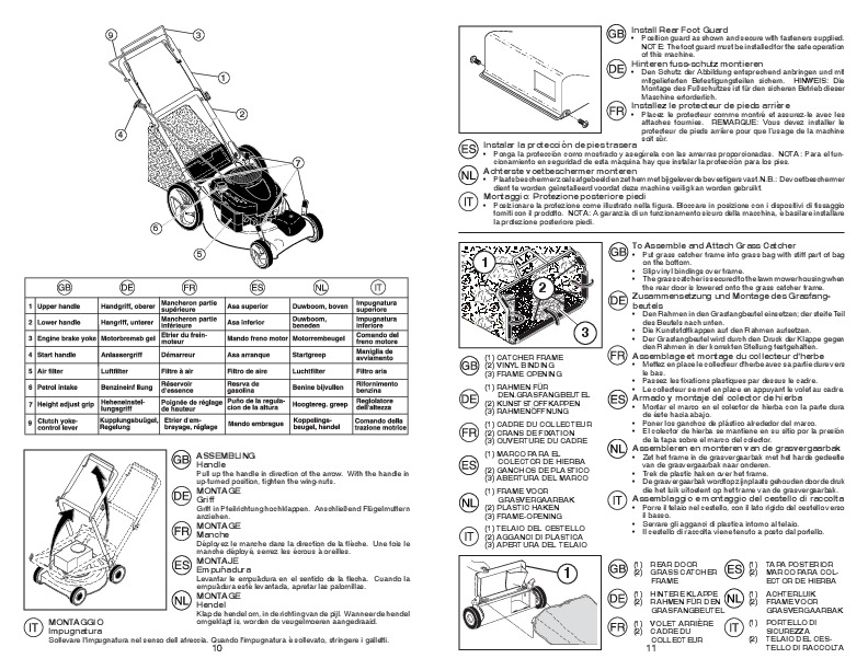 McCulloch M53 650 CMDW Lawn Mower Owners Manual, 2008