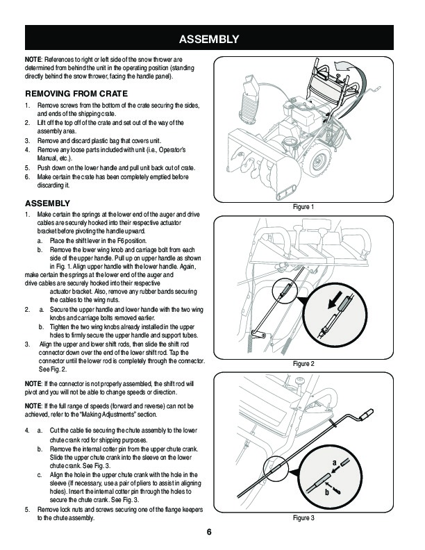 Craftsman 247.88033 33-Inch Snow Blower Owners Manual