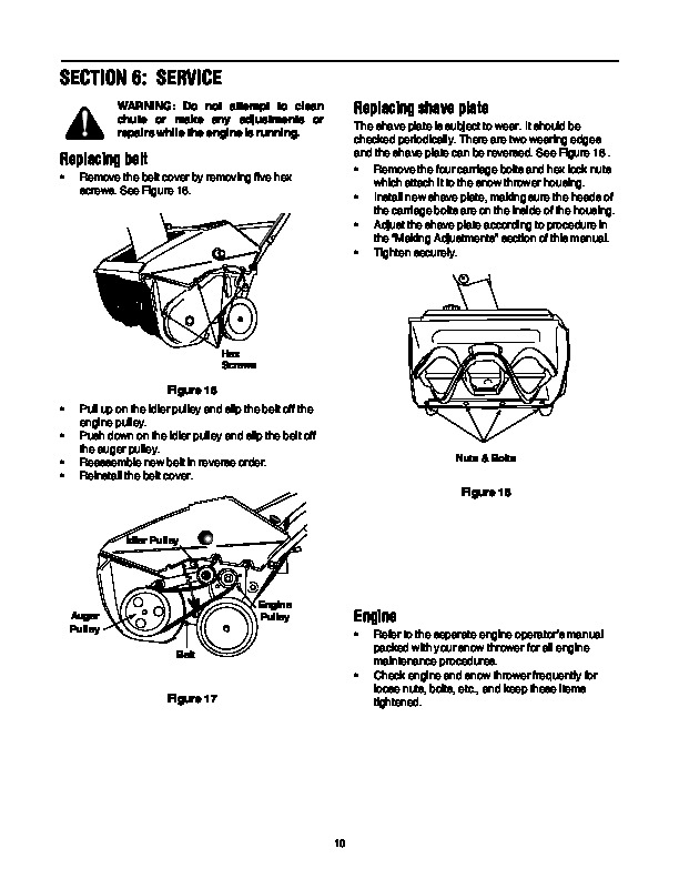 MTD E173 Snow Blower Owners Manual