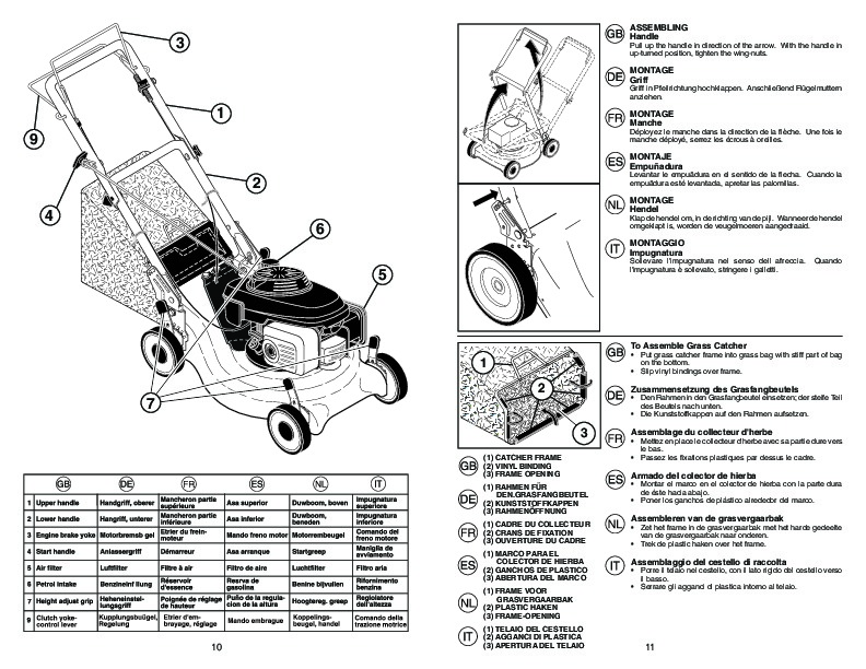 McCulloch M55 H53 RD Lawn Mower Owners Manual, 2007